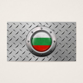 Industrial Bulgarian Flag with Steel Graphic Business Card