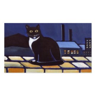 Industrial cat business card