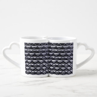 Industrial Chain Link and Metal Fence Coffee Mug Set