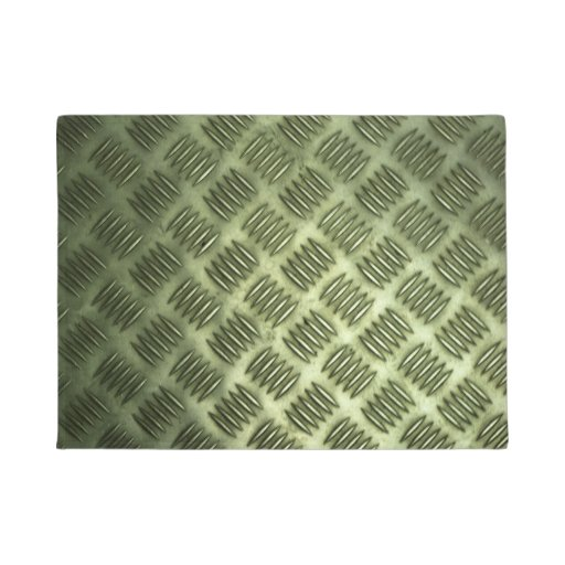 Industrial Checkered Metal Steel Flooring Texture