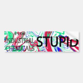 industrial chemicals pollution sticker