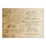 Industrial Chic Brick Wedding Rehearsal Dinner 5x7 Paper Invitation Card