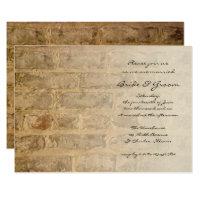 Industrial Chic Bricks Fade Wedding Invitation
