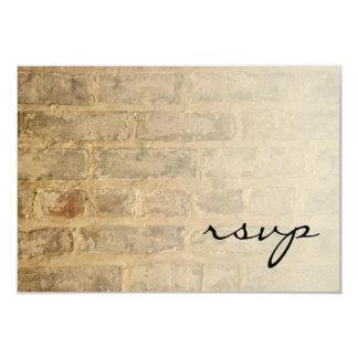 Industrial Chic Bricks Fade Wedding RSVP Card