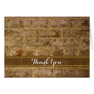 Industrial Chic Bricks Thank You Card
