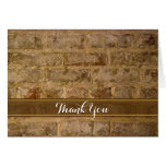 Industrial Chic Bricks Thank You Stationery Note Card