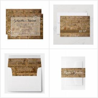 Industrial Chic Bricks Wedding Stationery