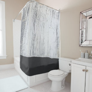 Industrial Chic Scratched Plaster Charcoal Grey Shower Curtain