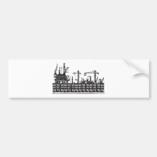 Industrial City Car Bumper Sticker