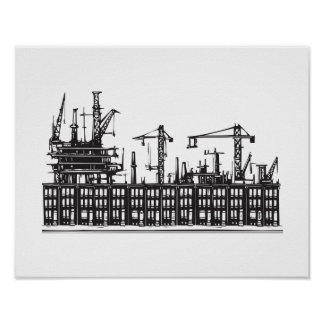 Industrial City Poster