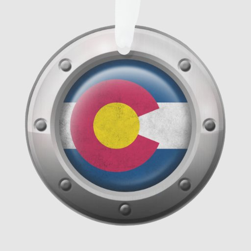 Industrial Colorado Flag with Steel Graphic