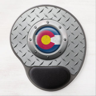 Industrial Colorado Flag with Steel Graphic Gel Mouse Pad