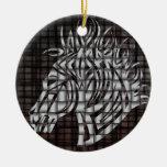 Industrial como la cabeza de caballo estilizada adornos de navidad