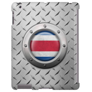 Industrial Costa Rica Flag with Steel Graphic