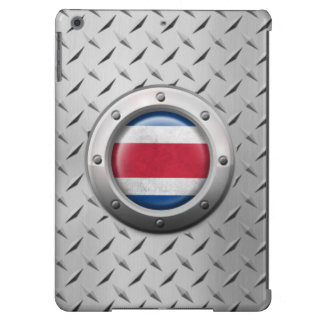 Industrial Costa Rica Flag with Steel Graphic Cover For iPad Air