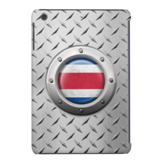 Industrial Costa Rica Flag with Steel Graphic iPad Mini Retina Cover