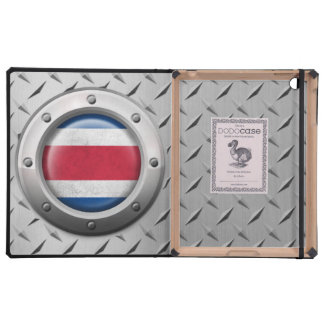 Industrial Costa Rica Flag with Steel Graphic iPad Case