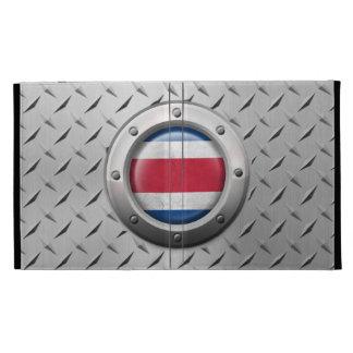 Industrial Costa Rica Flag with Steel Graphic iPad Folio Case