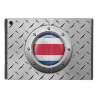 Industrial Costa Rica Flag with Steel Graphic iPad Mini Cover