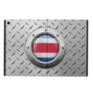 Industrial Costa Rica Flag with Steel Graphic Case For iPad Air