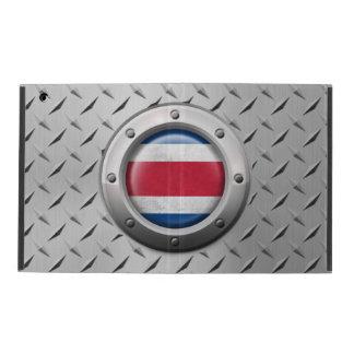 Industrial Costa Rica Flag with Steel Graphic iPad Folio Cases