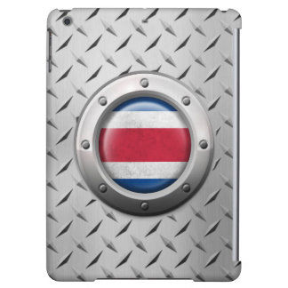 Industrial Costa Rica Flag with Steel Graphic iPad Air Case