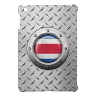 Industrial Costa Rica Flag with Steel Graphic iPad Mini Cases