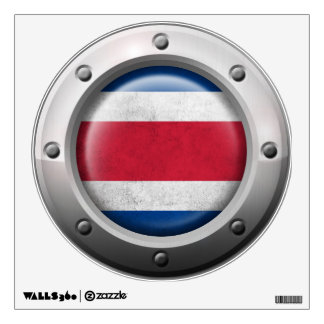 Industrial Costa Rica Flag with Steel Graphic Wall Decal