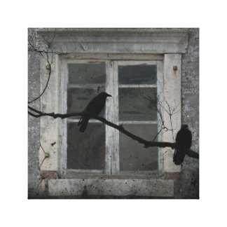 Industrial Crows Stretched Canvas Prints