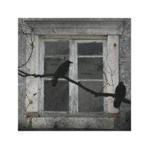 Industrial Crows Canvas Print