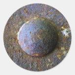 Industrial de acero del remache del moho apenado etiqueta redonda