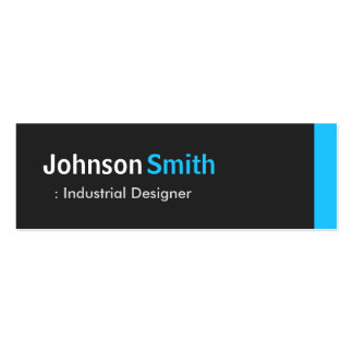 Industrial Designer - Personal Aqua Blue Mini Double-Sided Mini Business Cards (Pack Of 20)
