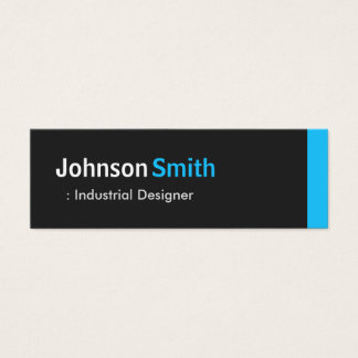 Industrial Designer - Personal Aqua Blue Mini Mini Business Card