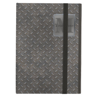 Industrial Diamond Cut Metal Look in Grey & Beige iPad Air Case