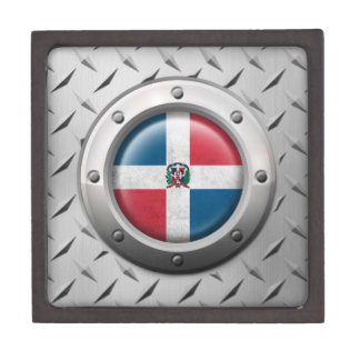 Industrial Dominican Republic Flag Steel Graphic Premium Gift Boxes