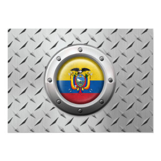 Industrial Ecuadorian Flag with Steel Graphic 5x7 Paper Invitation Card