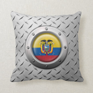 Industrial Ecuadorian Flag with Steel Graphic Pillows