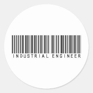 Industrial Engineer Bar Code Classic Round Sticker