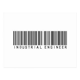 Industrial Engineer Bar Code Postcard
