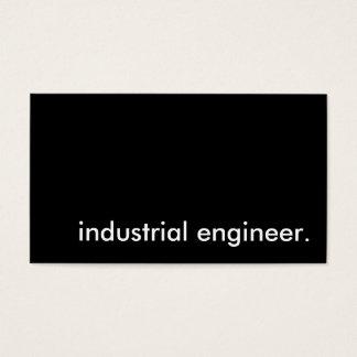 industrial engineer. business card