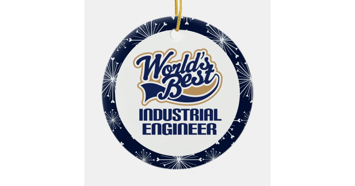 Industrial engineer gift ornament zazzle