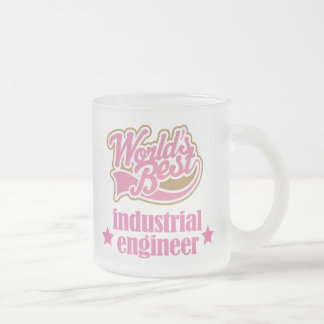 Industrial Engineer Gift (Worlds Best) Frosted Glass Coffee Mug
