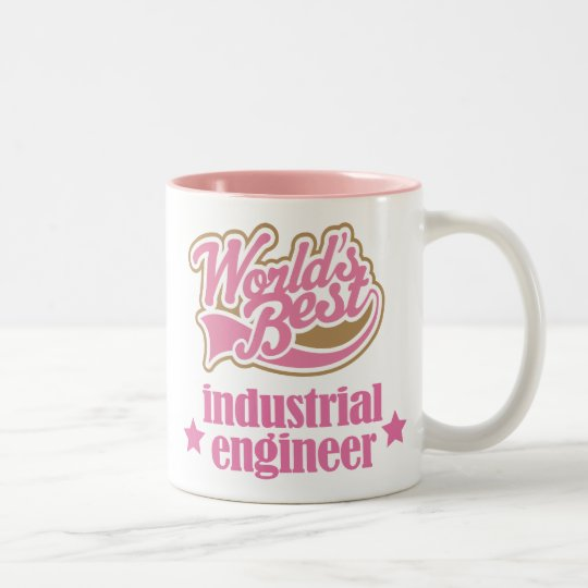 Industrial Engineer Gift (Worlds Best) Two-Tone Coffee Mug
