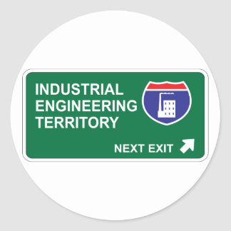 Industrial Engineering Next Exit Classic Round Sticker