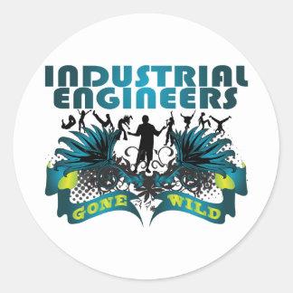 Industrial Engineers Gone Wild Classic Round Sticker