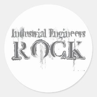 Industrial Engineers Rock Classic Round Sticker