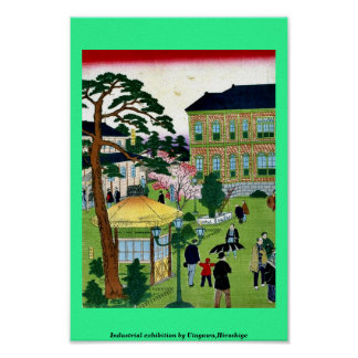 Industrial exhibition by Utagawa,Hiroshige Posters