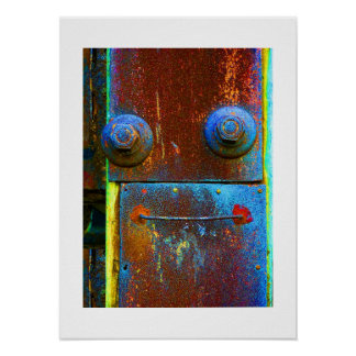 Industrial Face 2-Print Poster