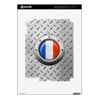Industrial French Flag with Steel Graphic iPad 3 Skins