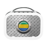 Industrial Gabon Flag with Steel Graphic Yubo Lunch Box